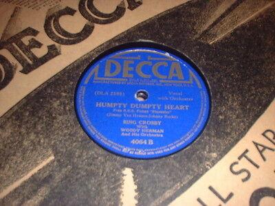 78RPM 2  Decca by  Bing Crosby + Woody Herman, Heart Texas, Humpty Dumpty, Car V