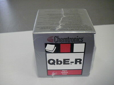 "Chemtronics Qbe-r Fiber Optic Cleaning 3"" X 3"" Wipes 200/..."