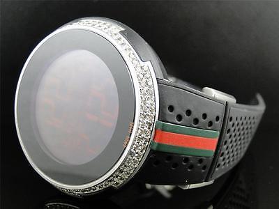 New Mens Custom Gucci I-Gucci YA114103 XXL Digital 49 MM Face Diamond Watch