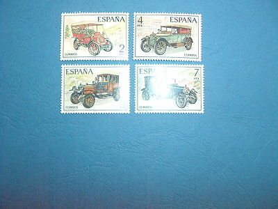 Spain Stamps - 1977 Vintage Cars Mint Condition (4 Stamps )-