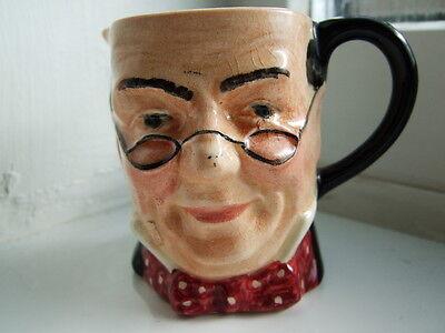 """Vintage Sandland """"Pickwick"""" Miniature Toby Character Jug"""