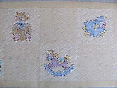 Kidsline Symphony Yellow Animals Bear Duck Unisex Baby Nursery Wall Paper Border