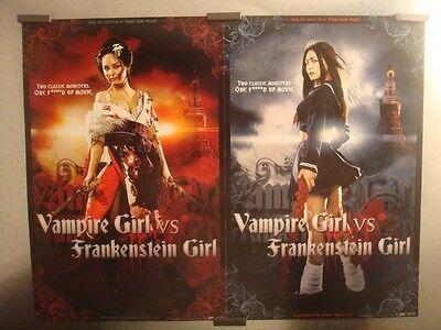 Vampire Girl Vs Frakenstein Girl D/s Movie Poster Sdcc Comic Con Original Mint