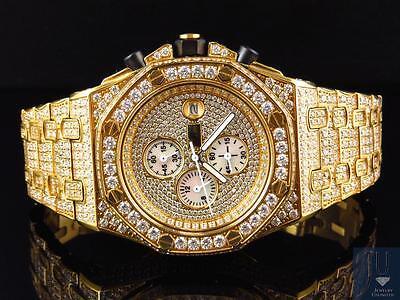 Herren Jewelry Unlimited Jojino Joe Rodeo Gold Künstlicher Diamant Uhr 43MM (Jojino Uhren)