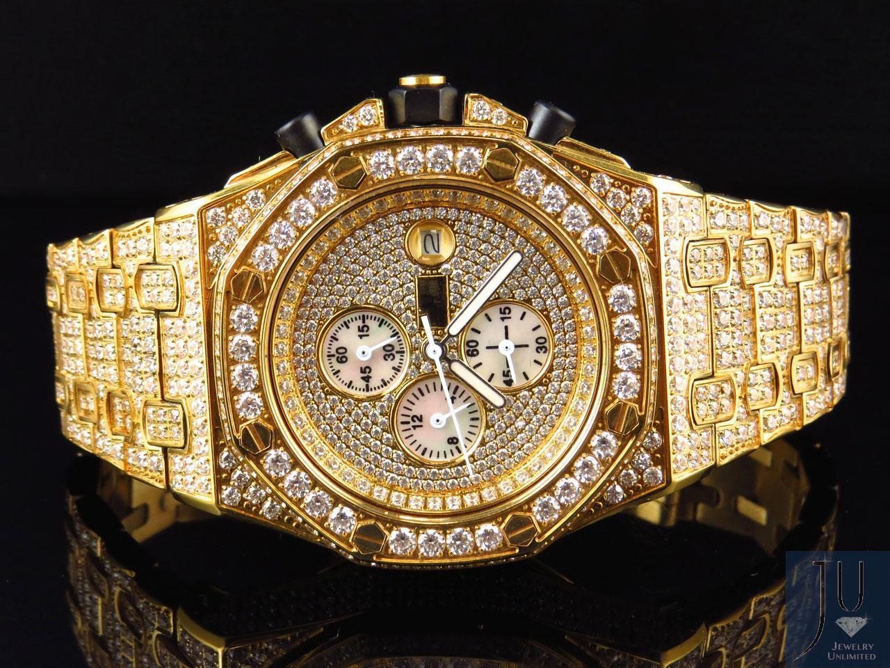 mens jewelry unlimited jojino joe rodeo gold simulated diamond watch 43mm ebay