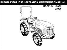 KUBOTA L3301 L3901 TRACTOR OPERATION MANUAL for