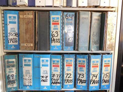 OEM FACTORY MOPAR Vintage Parts Catalogs 1955-1993 46 Books Barracuda Manuals