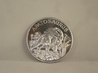 "NEW 1993 Educational Coin Series The Age Of Dinosaurs Apatosaurus 1-1/2"" Metal"