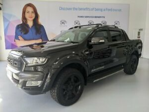 2016 Ford Ranger PX MkII Wildtrak Double Cab Black Mica 6 Speed Manual Utility