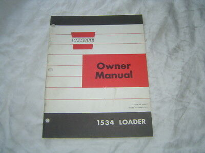 White Oliver 1534 Loader Owners Operators Manual