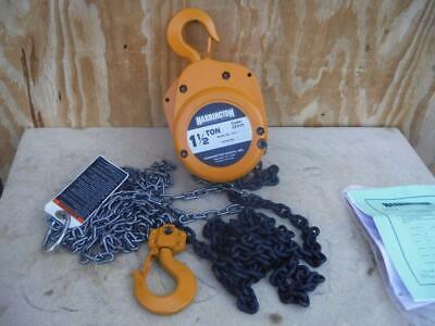 New Harrington Cf015-10 Manual Chain Hoist 1.5 Ton 3000 Lb. 10 Ft Lift Fast Ship
