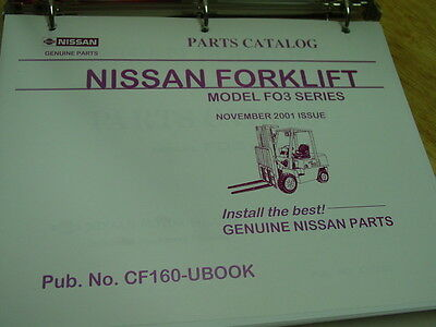 NISSAN Model FO3 Series  OEM Forklift Parts Catalog 2001 LQQK! Nissan Oem Parts Catalog