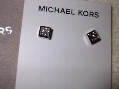MICHAEL KORS MKJ4708040 SILVER COLOURED CUBE SHAPE STUDS