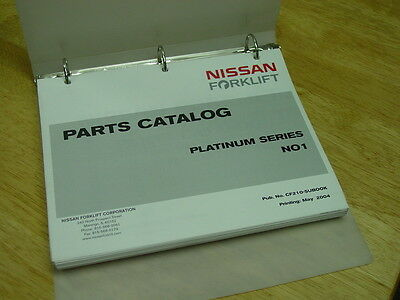 NISSAN OEM Forklift  PARTS CATALOG Platinum Series NO1 2004 Issue LQQK! Nissan Oem Parts Catalog