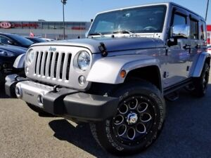 2016 Jeep Wrangler Unlimited Sahara Auto, cuir, mags perso, 2 to