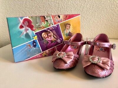 Girls Disney Princess Mary Jane Pink Shoes Size 11 Toddler Adorned with Jewels - Girls Disney Shoes