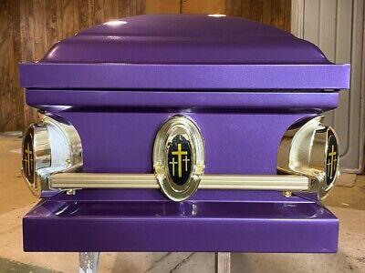 Beautiful SOLID PURPLE casket
