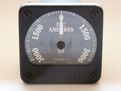 Vintage General Electric Dc Ammeter 3000 Amps - Model Db-13 8db 13aca2 Newos