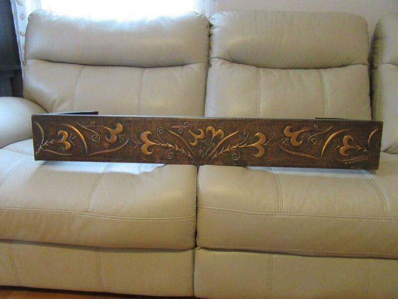 VINTAGE COPPER ARCHITECTURAL WINDOW VALANCE HAND MADE