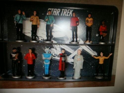 1991  Danbury Mint ...Star Trek Figure Collection  12 Characters and shelf.