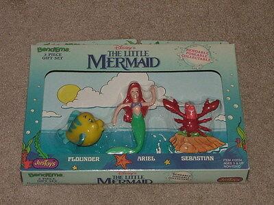 WALT DISNEY THE LITTLE MERMAID 3 Piece Gift Set BEND-EMS BENDABLE BENDY FIGURE