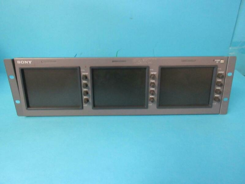 SONY PROFESSIONAL TRIPLE LCD MONITOR LMD-5320 RACKMOUNT WITH AC ADAPTER & CORDS