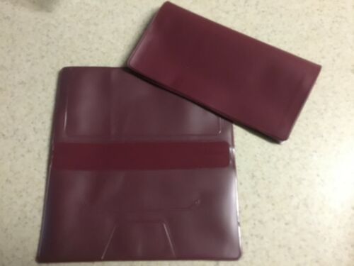 1 NEW BURGUNDY VINYL CHECKBOOK COVER WITH DUPLICATE FLAP