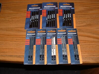 25 U-SHANK jigsaw Mastercraft Jig Saw Blades wood & plastic Blade CARBON (Steel Jigsaw Blade)