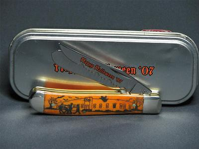 Case XX 2007 Happy Halloween Mini Trapper Knife-Persimmon Orange Limited Number