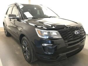 2018 Ford Explorer Sport HEATED & COOLED LEATHER, 6 PASSENGER...