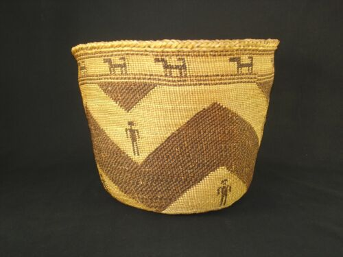 A Large and Rare Skokomish Northwest, Native American Indian basket c.1920