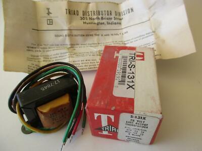 Triad Audio Isolation Matching Transformer S-131x 21.5 Watts 25 Volt Line Nos