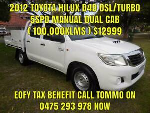 2012 TOYOTA HILUX D4D 3.0LT DSL/TURBO 5SPD MANUAL DUAL CAB (100,000KS) Bayswater Bayswater Area Preview