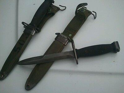 Vietnam Era Bayonet Fighting Knife with M8A1 Scabbard