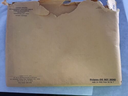 NASA picture set #7 Apollo 15 original envelope 9 photos