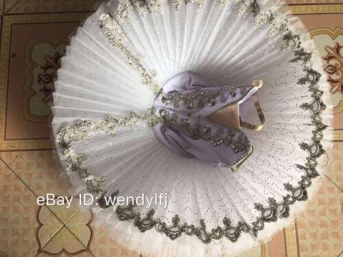 Adult Professional Ballet Platter Tutu Skirt Dance Dress White Ballet Costume