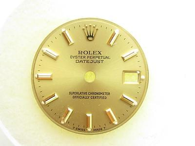 Genuine Rolex Oyster Perpetual DateJust Gold Superlative Chronometer Certified