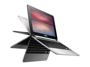 "ASUS Flip 10.1"" Touchscreen Laptop, Chrome OS, 1.8 GHz, 2 GB, 16 GB SSD, C100PA"