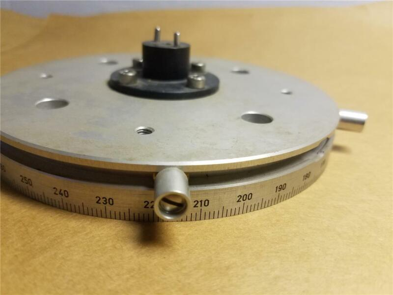 """5-3/8"""" HUBER GONIOMETER MICROMETER ROTATION DISC FOR CALIBRATION AND FINE TUNING"""