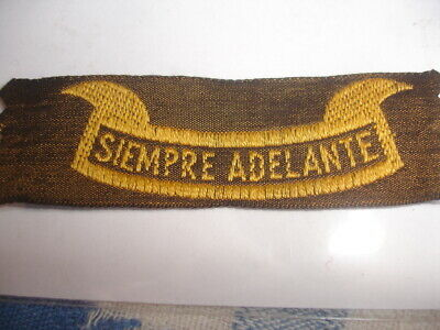 Boy Scout  Spain  Old 3 classe  scouting Badge  Siempre Adelante