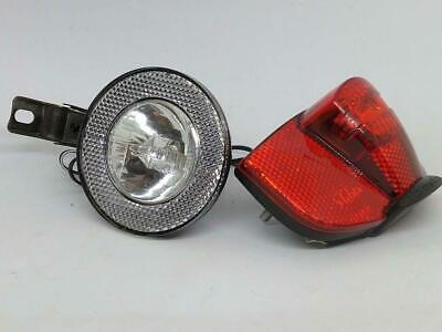 Bicycle Light Set Includes Cateye Front Halogen and Topeak Rear LED