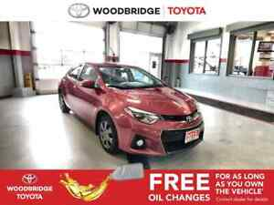 2015 Toyota Corolla S|AUTO|BLUETOOTH|B-CAM|LOW-KM'S|VERY-CLEAN!!
