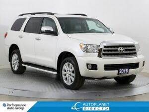 2016 Toyota Sequoia 4x4, Platinum, Navi, Pano Roof, DVD System!