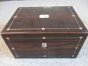 Victorian-Silver-strung-Mother-of-Pearl-inlaid-Rosewood-workbox-ref-1345
