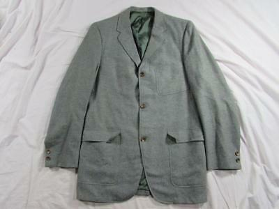 Vtg 60s Hanover Square Wool Mod Hollywood Jacket Blazer Sport Coat Patch Pocket