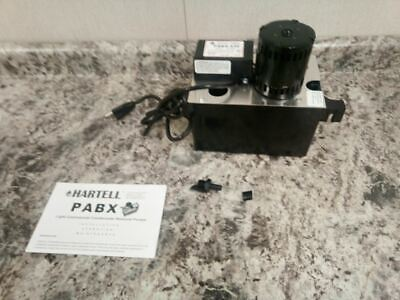 Hartell Pabx-230 125 Hp 230vac 1 Gal Cap Condensate Removal Pump