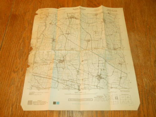 WW II German Army 1:25000 Landekarte - NAVIGATIONAL MAP - ITALY #5 - VERY NICE!