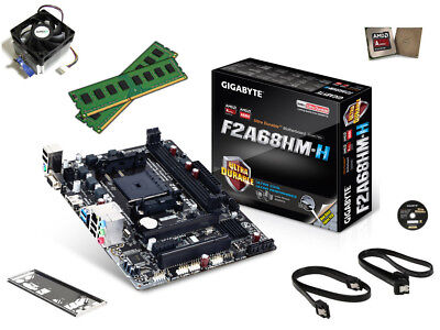 New AMD 3.8Gz 8GB DDR3 A6-5400 Gigabyte Motherboard CPU RAM Desktop Gaming Combo