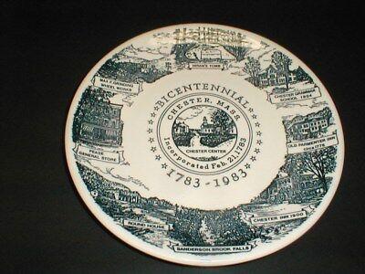 Chester Massachusetts Kettlesprings Kiln Bicentennial Souvenir Plate 1983