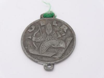 Antique Schutz-patron aller Winter-sportler (Patron saint) German Talisman Medal